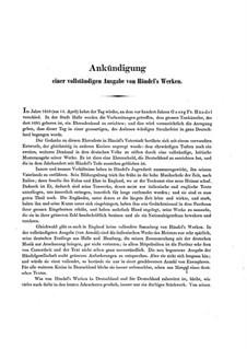 Сусанна, HWV 66: Партитура by Георг Фридрих Гендель