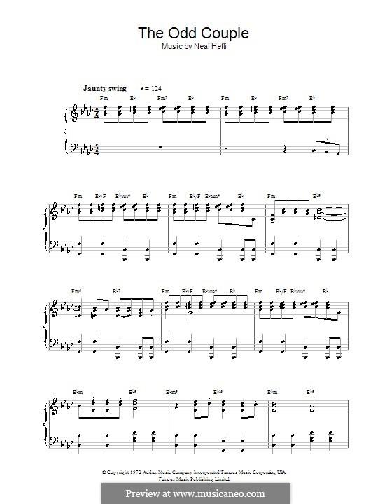 Theme from The Odd Couple: Для фортепиано с аккордами by Neal Hefti