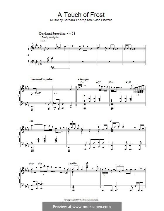 A Touch of Frost (Barbara Thompson): Для фортепиано by Jon Hiseman