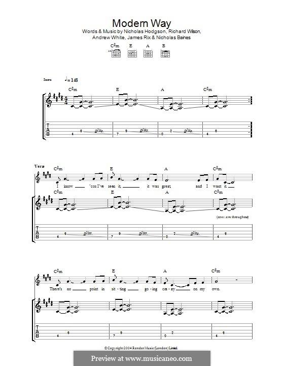 Modern Way (Kaiser Chiefs): Для гитары с табулатурой by Andrew White, James Rix, Nicholas Baines, Nicholas Hodgson, Charles Wilson