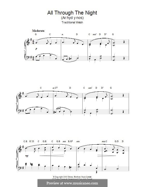 All Through the Night: Для фортепиано by folklore