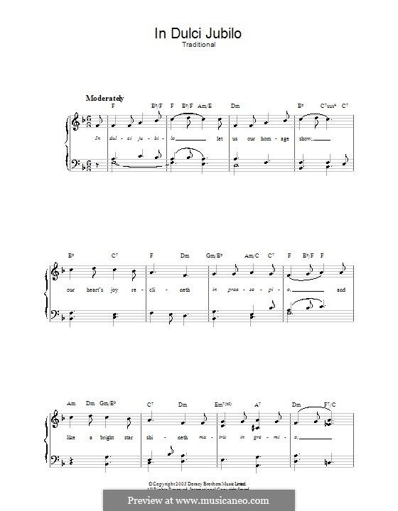 In dulci jubilo: Для голоса и фортепиано (или гитары) by folklore
