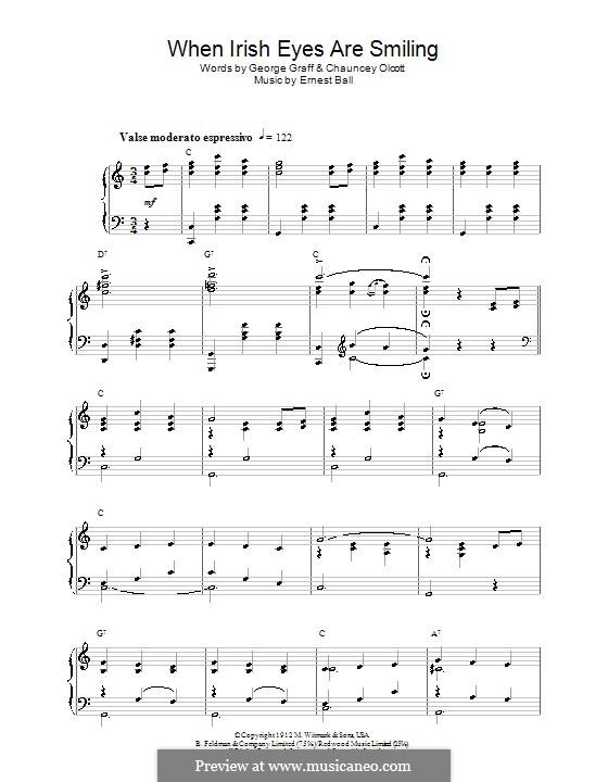 When Irish Eyes Are Smiling: Для фортепиано by Ernest R. Ball