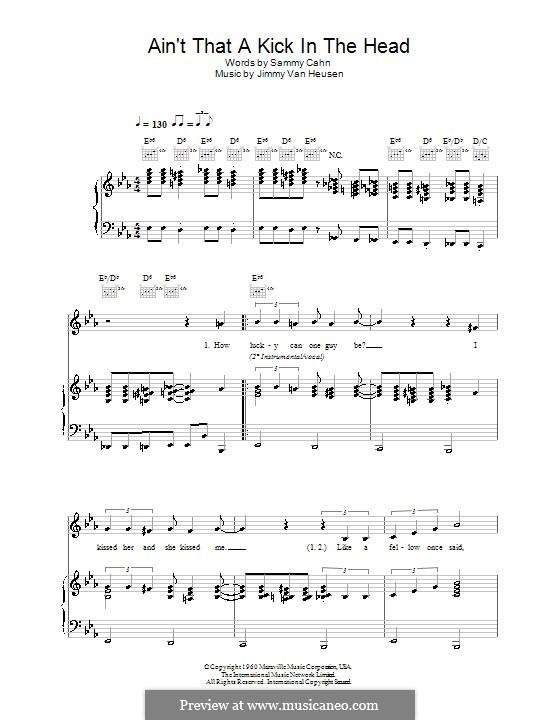 Ain't That a Kick in the Head: Для голоса и фортепиано или гитары (Robbie Williams) by Jimmy Van Heusen