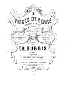 Скерцо и хорал, Op.18: Скерцо и хорал by Теодор Дюбуа