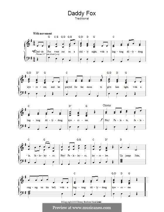 Daddy Fox: Для голоса и фортепиано by folklore
