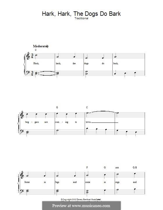 Hark Hark the Dogs Do Bark: Для голоса и фортепиано by folklore