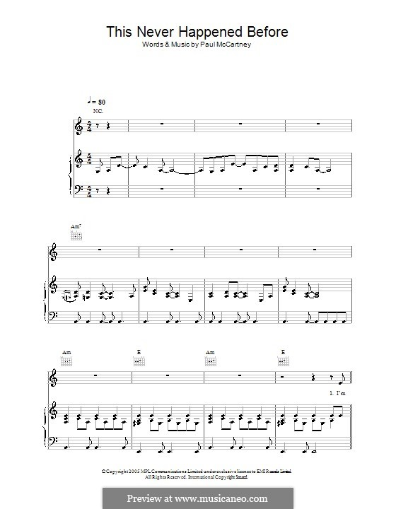 This Never Happened Before: Для голоса и фортепиано (или гитары) by Paul McCartney