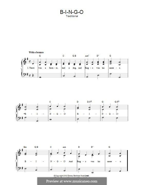 Bingo: Для голоса и фортепиано by folklore