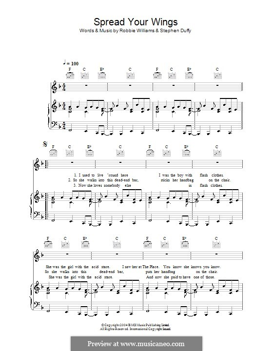 Spread Your Wings: Для голоса и фортепиано (или гитары) by Stephen Duffy