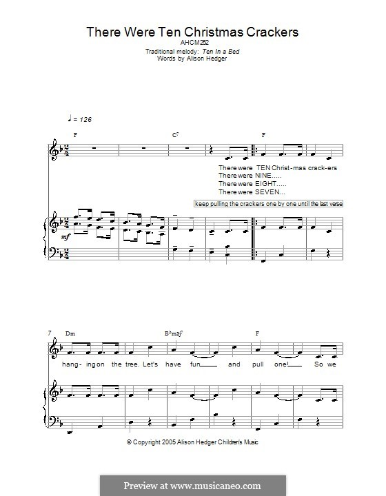 There Were Ten Christmas Crackers: Для голоса и фортепиано (или гитары) by folklore