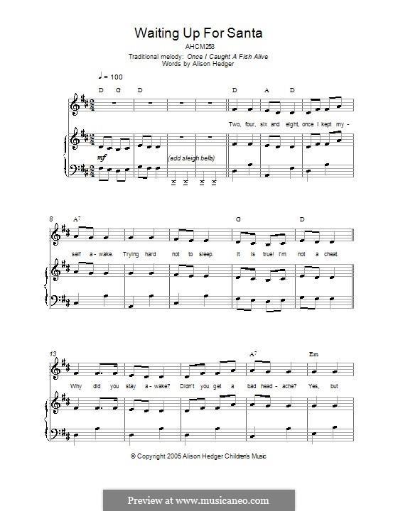Waiting Up for Santa: Для голоса и фортепиано (или гитары) by folklore