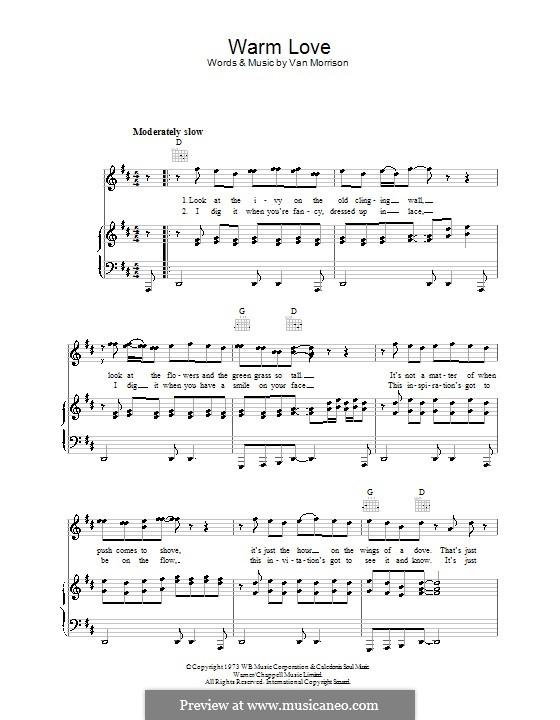 Warm Love: Для голоса и фортепиано (или гитары) by Van Morrison