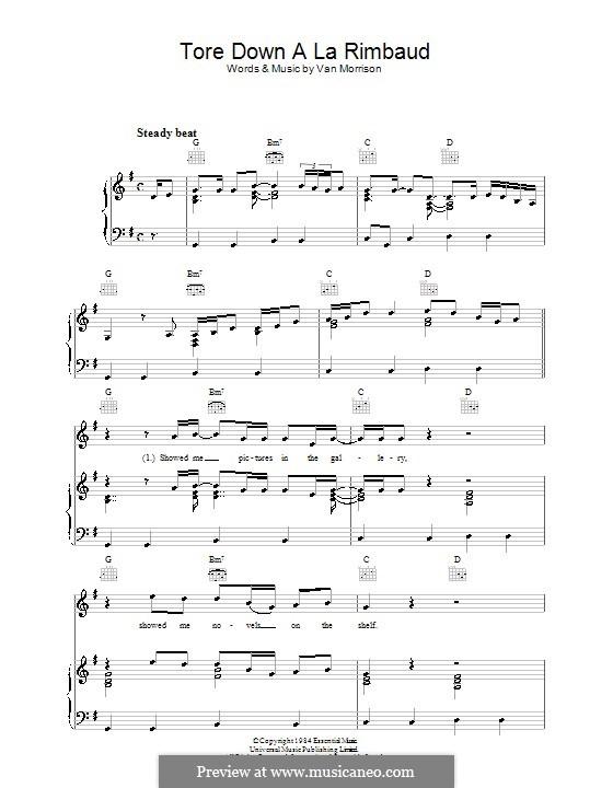 Tore Down a La Rimbaud: Для голоса и фортепиано (или гитары) by Van Morrison
