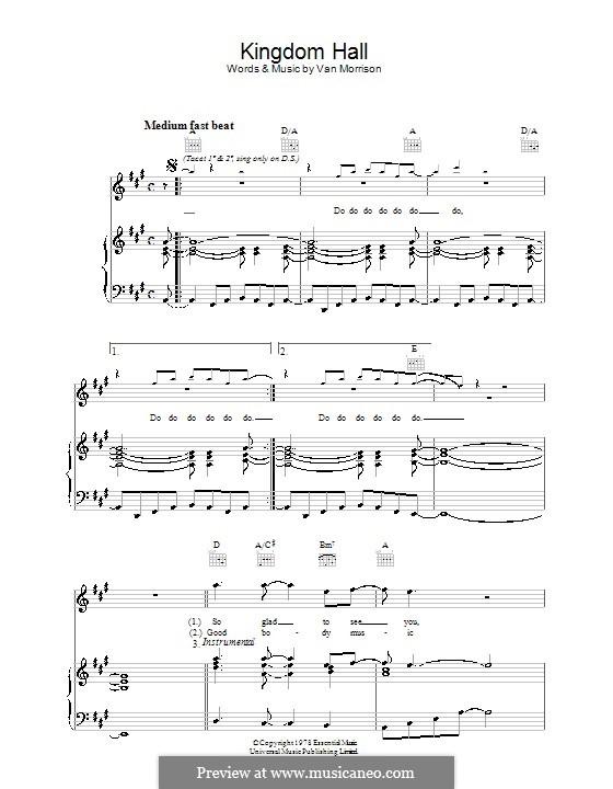 Kingdom Hall: Для голоса и фортепиано (или гитары) by Van Morrison
