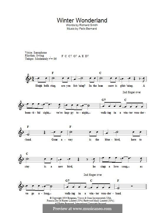 Winter Wonderland: Для клавишного инструмента by Felix Bernard