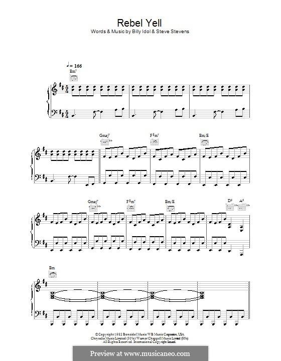 Rebel Yell: Для голоса и фортепиано (или гитары) by Steve Stevens