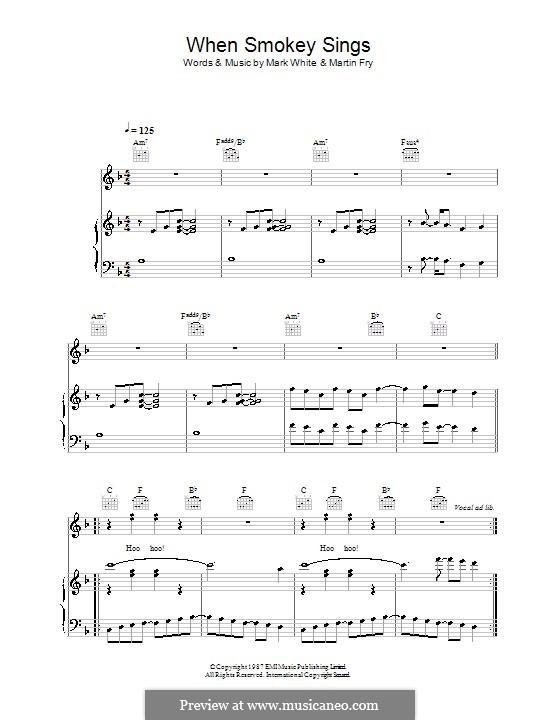 When Smokey Sings (ABC): Для голоса и фортепиано (или гитары) by Mark White, Martin Fry