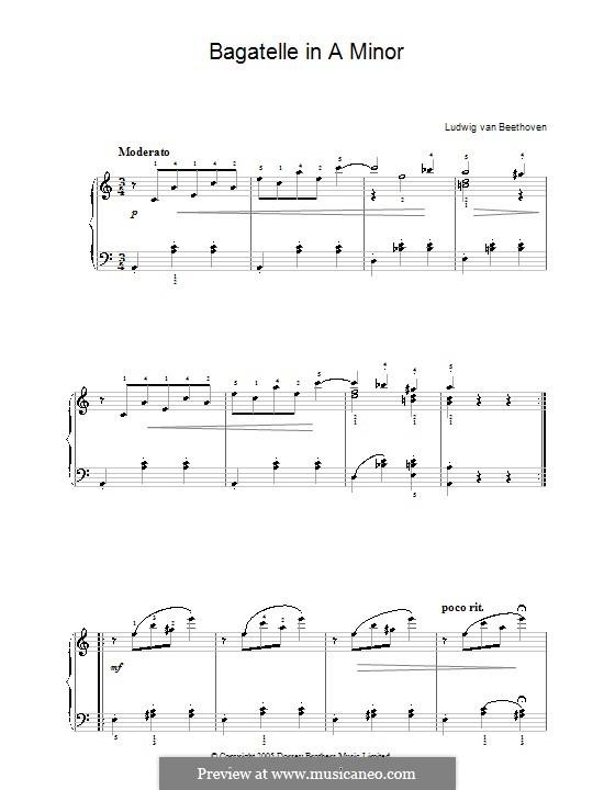 Одиннадцать новых багателей для фортепиано, Op.119: Багатель No.9 by Людвиг ван Бетховен