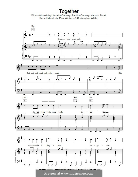 Together: Для голоса и фортепиано (или гитары) by Christopher Whitten, Hamish Stuart, Linda McCartney, Paul McCartney, Paul Wickens, Robert McIntosh