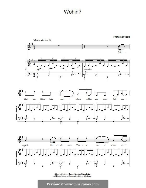 No.2 Куда: Клавир с вокальной партией by Франц Шуберт