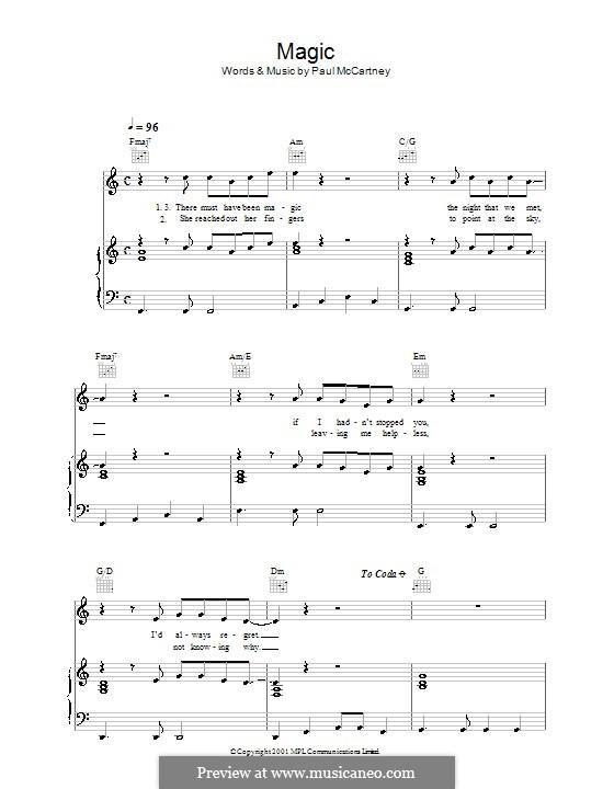 Magic: Для голоса и фортепиано (или гитары) by Paul McCartney