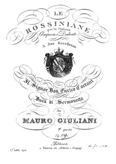 Rossiniana No.1, Op.119: Rossiniana No.1 by Мауро Джулиани