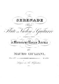 Серенада для флейты (или скрипки) и гитары, Op.127: Серенада для флейты (или скрипки) и гитары by Мауро Джулиани