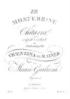 Dodici Monferrine, Op.12: Dodici Monferrine by Мауро Джулиани