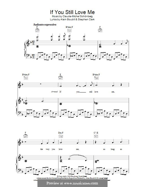 If You Still Love Me: Для голоса и фортепиано (или гитары) by Claude-Michel Schönberg