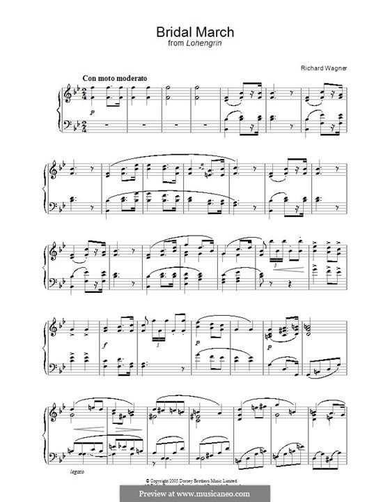 Свадебный хор: Для фортепиано by Рихард Вагнер