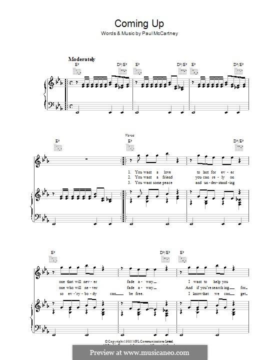 Coming Up: Для голоса и фортепиано (или гитары) by Paul McCartney