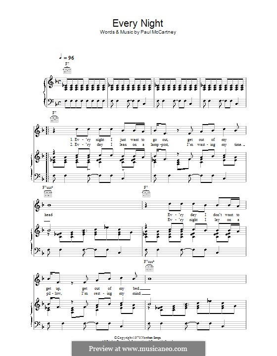 Every Night: Для голоса и фортепиано (или гитары) by Paul McCartney