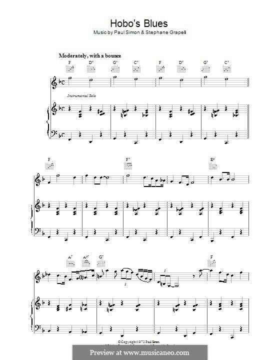 Hobo's Blues: Для голоса и фортепиано (или гитары) by Paul Simon