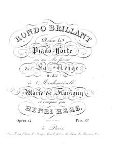 Блестящее рондо на тему арии 'La Neige', Op.14: Блестящее рондо на тему арии 'La Neige' by Анри Герц