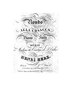Rondo alla Cosacca, Op.2: Rondo alla Cosacca by Анри Герц