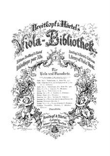 Вариации на оригинальную тему для альта и фортепиано, Op.10: Вариации на оригинальную тему для альта и фортепиано by Йозеф Иоахим