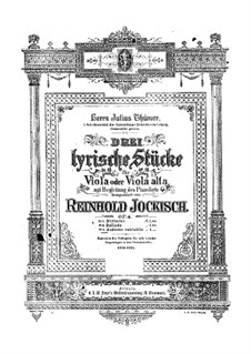 Andante cantabile, Op.4 No.3: Andante cantabile by Рейнхольд Йоккиш