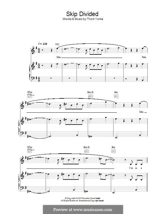 Skip Divided: Для голоса и фортепиано (или гитары) by Thomas Yorke