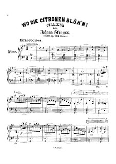 Wo die Citronen Blüh'n, Op.364: Wo die Citronen Blüh'n by Иоганн Штраус (младший)