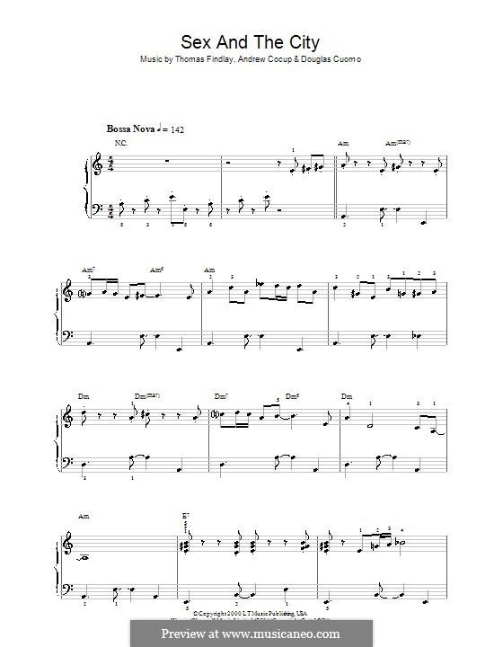 Секс в большом городе ноты фортепиано
