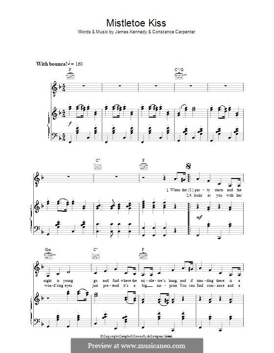 Mistletoe Kiss (Margaret Whiting): Для голоса и фортепиано (или гитары) by Constance Carpenter, James Kennedy