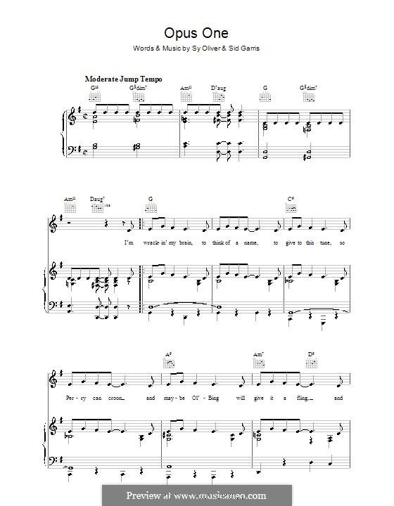 Opus One: Для голоса и фортепиано (или гитары) by Sy Oliver