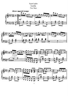 Леола: Для фортепиано by Скотт Джоплин