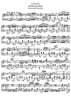Reflection Rag: Для фортепиано by Скотт Джоплин