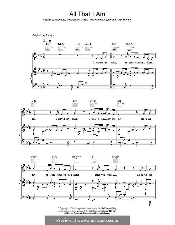 All That I am (Journey South): Для голоса и фортепиано (или гитары) by Andy Pemberton, Carlson Pemberton, Paul Barry