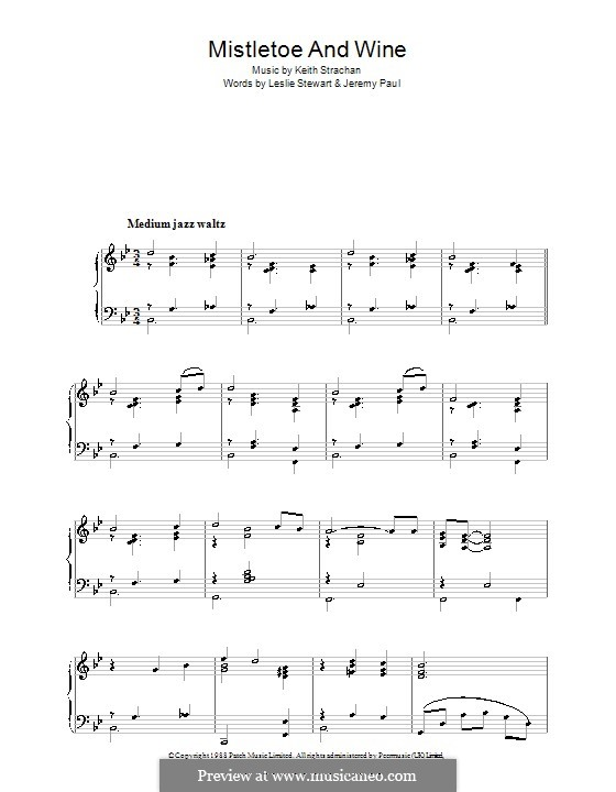 Mistletoe and Wine (Cliff Richard): Для фортепиано by Keith Strachan