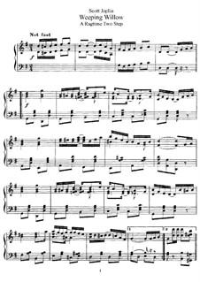 Weeping Willow: Для фортепиано by Скотт Джоплин