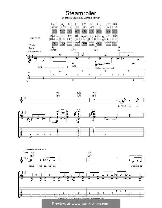 Steam Roller: Для гитары с табулатурой by James Taylor