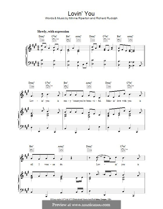 Lovin' You: Для голоса и фортепиано (или гитары) by Minnie Riperton, Richard Rudolph